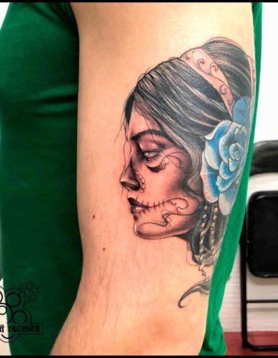 tatuaje la catrina brazo pamplona