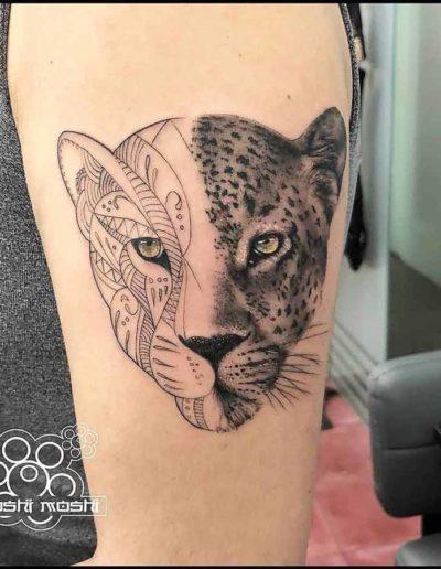tatuaje leopardo brazo pamplona