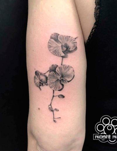 tatuaje orquidea brazo pamplona