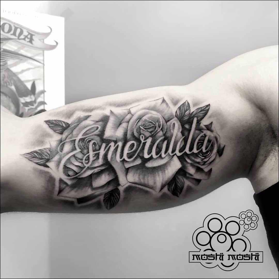 Tattoo De Rosas En El Brazo Con Nombres - MMOD