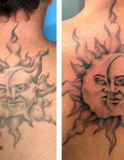 tatuaje sol espalda pamplona